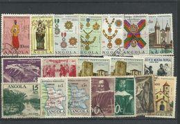 Angola - Bulk Lot Of 19 Used Stamps - Pkt. 52 - Angola