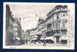 Verviers. Pont Saint-Laurent. Passants Et Chariots. Magasin Au Bon Marché.1903 - Verviers
