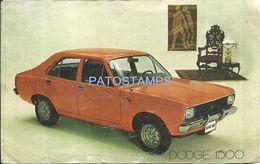 83641 ARGENTINA AUTOMOBILE CAR DODGE 1500 CARACTERISTICAS TECNICAS CUT NO POSTAL TYPE POSTCARD - Sin Clasificación
