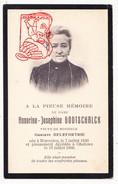 DP Foto Honorine J. Godtschalck ° Warneton Komen-Waasten 1836 † Geluwe Wervik 1909 X Gustave DeleFortrie - Devotion Images
