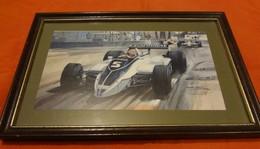 Encadrement Avec Impression De Michael Turner - 1980 - F1 BRABHAM Parmalat - Le Brésilien Nelson Piquet - Automobile - F1