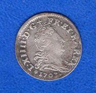 Louis  14  Sols 10      1703  Bb  Arg - 987-1789 Monete Reali