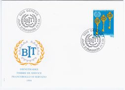 Switzerland Swiss Schweiz Svizzera Helvetia 1994 FDC BIT Bureau International Du Travail - FDC