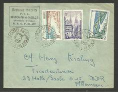 72 - SARTHE / Recette Distribution NEUFCHATEL EN SAOSNOIS / Lettre >>> ALLEMAGNE 08.03.1955 - Marcophilie (Lettres)