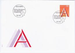 Switzerland Swiss Schweiz Svizzera Helvetia 1993 FDC Posta Ordinaria - FDC