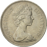 Grande-Bretagne, Elizabeth II, 10 New Pence, 1975, TTB, Copper-nickel, KM:912 - 1971-… : Monnaies Décimales