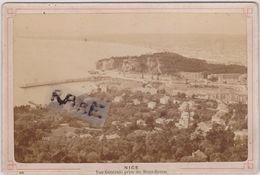 PHOTO ANCIENNE 1880,06,ALPES MARITIMES,NICE,VUE PRISE DU MONT BORON,PAR HUBERT,PHOTOGRAPHE ET LIBRAIRE - Lieux