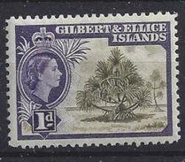 Gilbert And Ellice Islands 1956 1d (*) MM - Gilbert & Ellice Islands (...-1979)