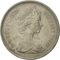 Grande-Bretagne, Elizabeth II, 5 New Pence, 1970, TTB, Copper-nickel, KM:911 - 1971-… : Monnaies Décimales