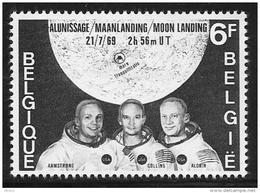 Belgium, Scott #726 MNH Moon Landing, 1969 - Belgium