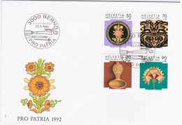 Switzerland Swiss Schweiz Svizzera Helvetia 1992 FDC Pro Patria, Folk Art - FDC
