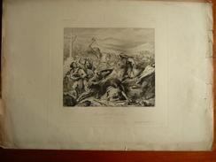Charles De Steuben - Bataille De Potiers 732 - Diagraphie Gavard - Grav. Bein - Dess. Sandoz - Lithographies