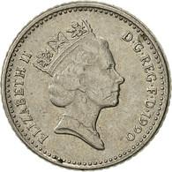 Grande-Bretagne, Elizabeth II, 5 Pence, 1990, TTB, Copper-nickel, KM:937b - 1971-… : Monnaies Décimales