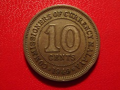 Malaya - 10 Cents 1949 George VI 4731 - Malaysia