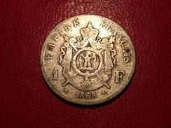 France - 1 Franc 1868 A Paris Napoléon III 5072 - H. 1 Franc