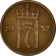 Norvège, Haakon VII, 5 Öre, 1952, TTB, Bronze, KM:400 - Norvège