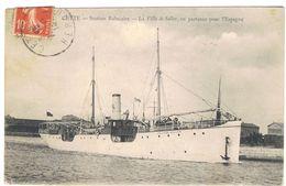CETTE STATION BALNEAIRE LA VILLA DE SOLLER  EN PARTANCE POUR L ESPAGNE   ****  A   SAISIR **** - Ferries