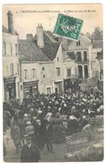 CHATILLON SUR LOIRE  LA PLACE UN JOUR DE MARCHE      ****  RARE A   SAISIR **** - Chatillon Sur Loire