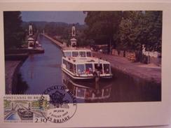 FRANCE CARTE MAXIMUM. 1990 YVERT 2658 PONT CANAL DE BRIARE - Maximumkaarten