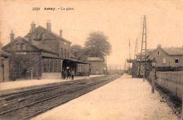 Amay - La Gare (animée, 1920) - Amay