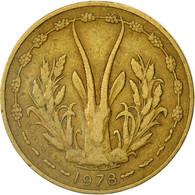 West African States, 5 Francs, 1978, Paris, TTB, Aluminum-Nickel-Bronze, KM:2a - Ivory Coast