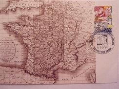 FRANCE CARTE MAXIMUM. 1990 YVERT 2670 DEPARTEMENTS - 1990-99