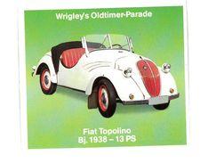 CHROMO IMAGE ZUSATZLICH DAS WRIGLEY AUTOMOBILES FIAT TOPOLINO 1938 - Autres