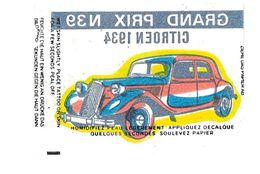IMAGE TATOUAGE TATOO AUTOMOBILE GRAND PRIX N39 CITROEN 1934 - Chromos
