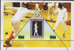 FENCING Áron Szilágyi  - GUINEA ECUATORIAL  TRIANGULAR STAMP 1 Sheet (Mint NH) - Escrime