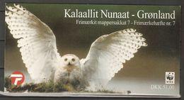 1999. Greenland WWF. Polar Owls. Booklet ** - Greenland