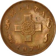 Malte, Cent, 1977, British Royal Mint, TTB, Bronze, KM:8 - Malta