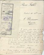 Déclaration Mandat Télégraphique De Lourdes 1905  Banque Bosc à Tarbes - Marcophilie (Lettres)