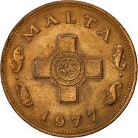 Malte, Cent, 1977, British Royal Mint, TB+, Bronze, KM:8 - Malte