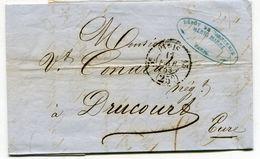 PARIS  LAC Du 17/02/1853 Avec Timbre Taxe 25C N°2514 Route N°13  3 Ième Départ - 1849-1876: Classic Period
