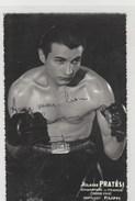 Boxe - Boxing - Hilaire PRATESI - Champion De France ( Poids Coq) - Superbe Autographe - 90x140 Dentelée, Glacée - Boxing