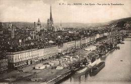 76 ROUEN  LES QUAIS VUE PRISE DU TRANSBORDEUR - Rouen
