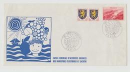 France : Rare !!  Lettre De La CCAS Avec De Très Beaux Cachets - Poststempel (Briefe)