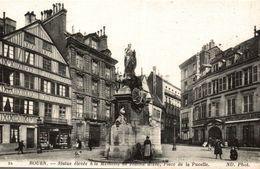 76 ROUEN STATUE ELEVEE A LA MEMOIRE DE JEANNE D'ARC PLACE DE LA PUCELLE - Rouen