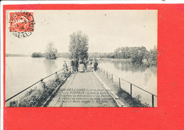 37 VOUVRAY Cpa Animée Crue De La Loire Octobre 1907 La Route Nationale        42 ND - Vouvray