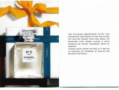 CHANEL Invitation N° 5 L'Eau (édition Noël 2017)3 Volets - Cartes Parfumées