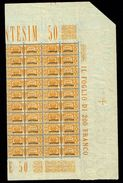 ERITREA -  RARO BLOCCO DI 20 -  NUOVI GOMMA INTEGRA MNH ** - ANNO 1927 - N° PP26 PACCHI POSTALI - Erythrée
