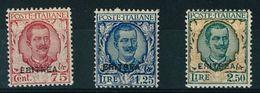 ERITREA -  FLOREALE-  NUOVI GOMMA INTEGRA MNH ** - ANNO 1926 - N° 113/115 - Eritrea