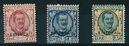 ERITREA -  FLOREALE-  NUOVI GOMMA INTEGRA MNH ** - ANNO 1926 - N° 113/115 - Erythrée