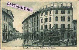Veneto-treviso-conegliano Via Cavour Fantana Nettuno Palazzo S.mazza Confezioni Animata - Italia