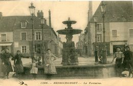 HENRICHEMONT - La Fontaine Beau Plan Sur Les Gens - Henrichemont