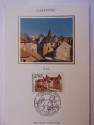 FRANCE CARTE MAXIMUM. 1991 YVERT 2705 CARENNAC - Maximumkarten
