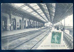 Cpa  Du 06  Cannes Sous Le Hall De La Gare   Sep17-80 - Cannes