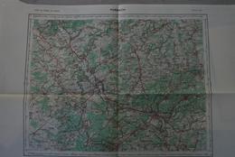 FORBACH N°O-6, Carte IGN 1/100 000°éditée 1955 : Sarre: Saarbrücken, Saarlouis, Merzig, Schmelz - Topographical Maps
