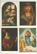 Italian Painting. Magnasco, Vanvitelli, Manfredi, Leonardo Da Vinci, Perugino,Boltraffio, Raffael, Guardi. 25 Postcards. - Paintings