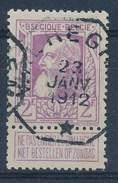 """BELGIE - OBP Nr 80 - Grove Baard - Telegraafstempel  """"WAEREGHEM"""" - (ref. ST.-694) - 1905 Grosse Barbe"""